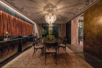 Chrissy Teigen's dining room.