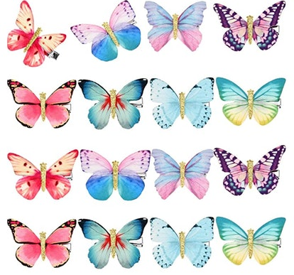 16 Pieces Butterfly Clips