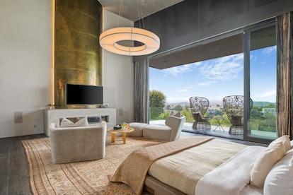 Chrissy Teigen's bedroom.