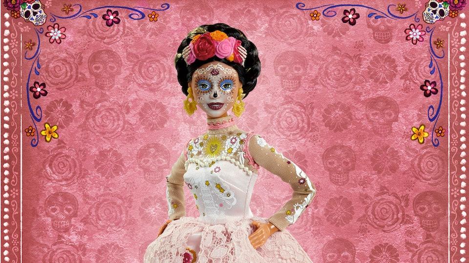 The new Barbie Dia De Muertos doll features stunning details.