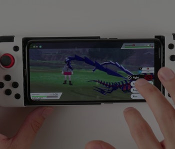 An Android phone running a Nintendo Switch emulator
