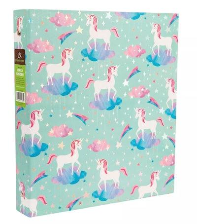 "Greenroom 175 Sheet 1"" Ring Binder Unicorns"