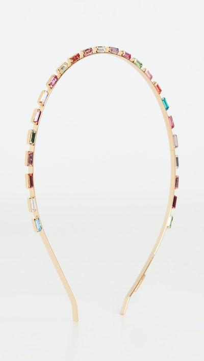 Multi Crystal Baguette Headband