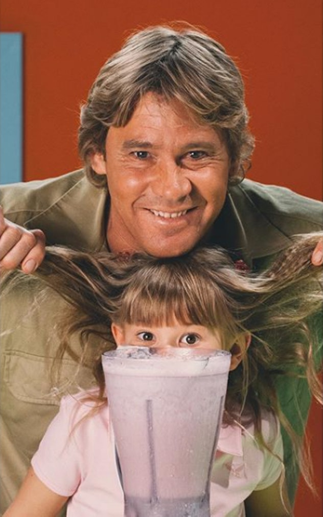 Bindi Irwin enjoyed a smoothie with her dad.