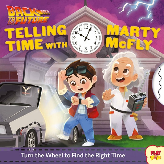 Back to the Future telling time with Marty McFly board book cover