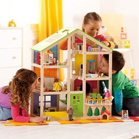 Hape Store All Seasons Kids Wooden Dollhouse