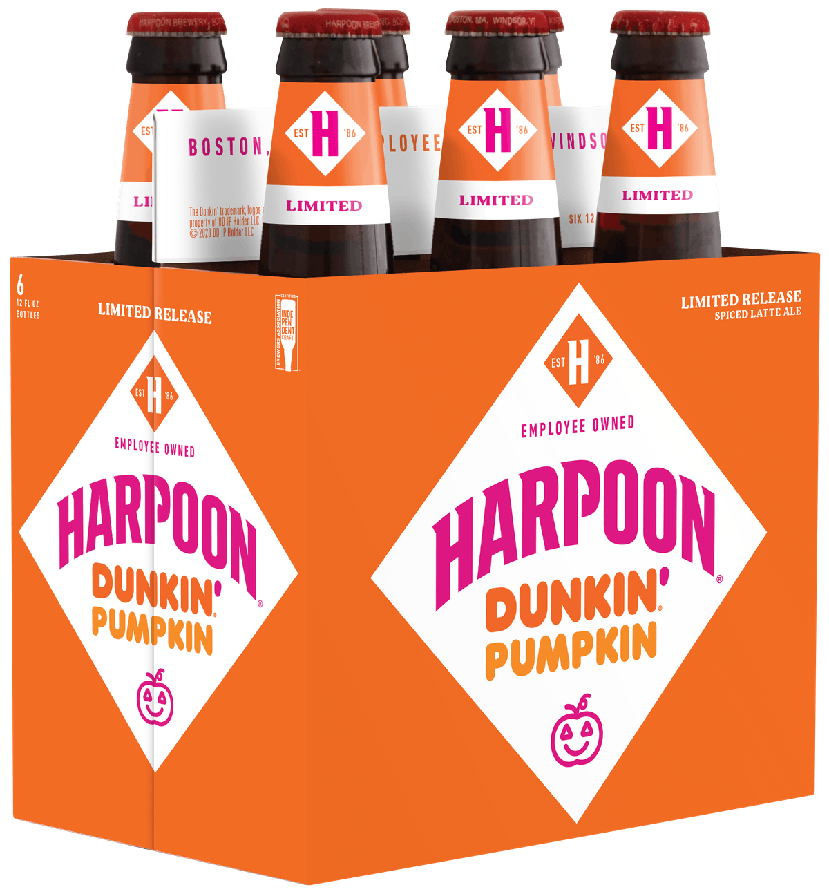 Harpoon and Dunkin's new pumpkin ale is brewed with real pumpkin.