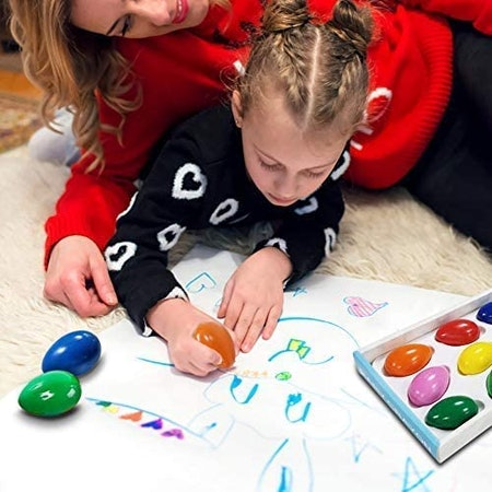 Tencoz Crayons for Toddlers (9 Pieces)