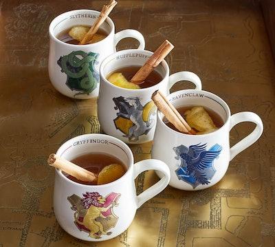 Harry Potter Hogwarts Houses Stoneware Mugs - Set of 4