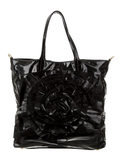 Petale Rose Patent Leather Tote Bag