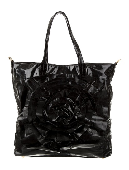 Petale Rose Patent Leather Tote Bag