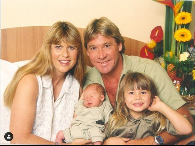 Bindi became a big sister to Robert in 2003.