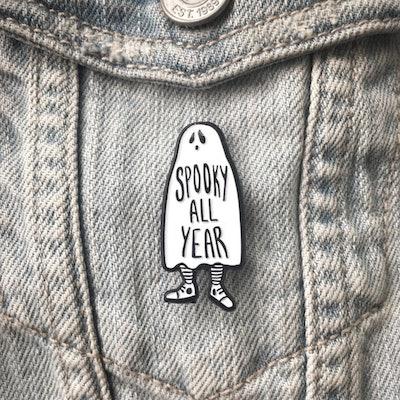 """Ghost """"Spooky All Year"""" Enamel Pin"""