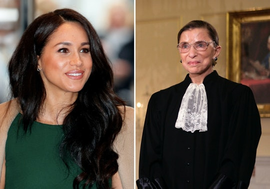 """Meghan Markle, the Duchess of Sussex, cited Ruth Bader Ginsburg as a """"true inspiration"""" in a statement following her death over the weekend."""