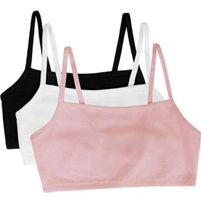 Fruit of the Loom Women's Cotton Pullover Sport Bras (3-Pack)