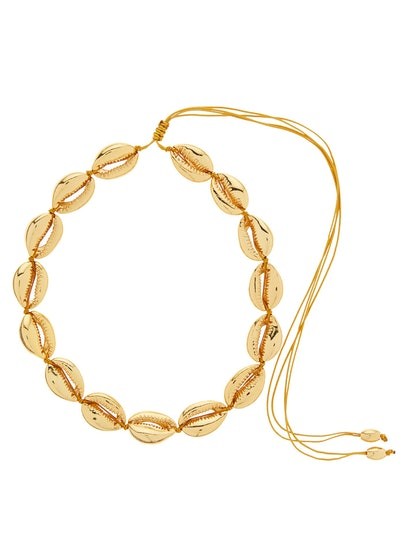 Puka Shell Charm 24kt Gold-Plated Choker