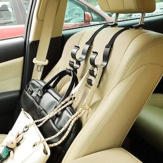 House Day Car Seat Headrest Hooks (2-Pack)