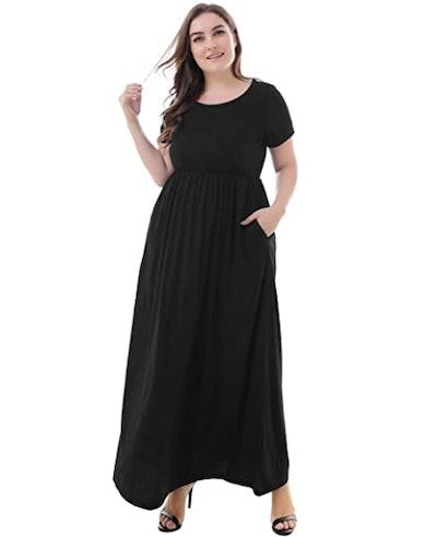 Nemidor Plus-Size Maxi Dress