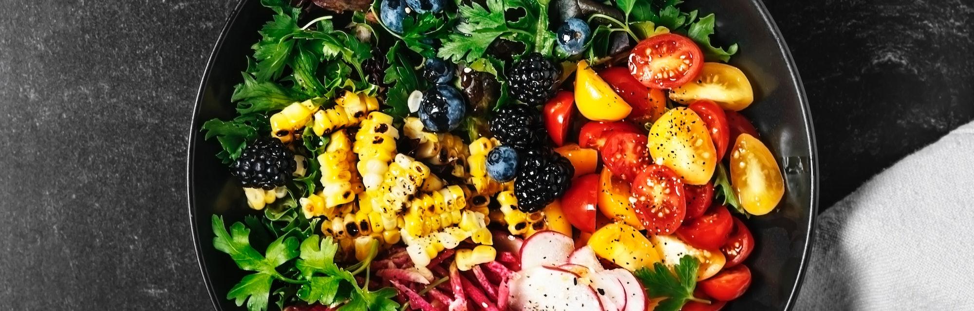 Bowl of fresh salad.