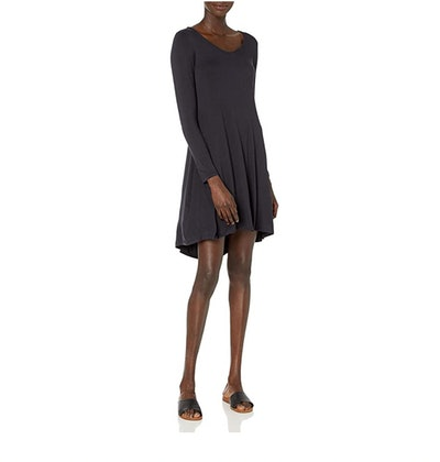 Daily Ritual Jersey Long-Sleeve Dress