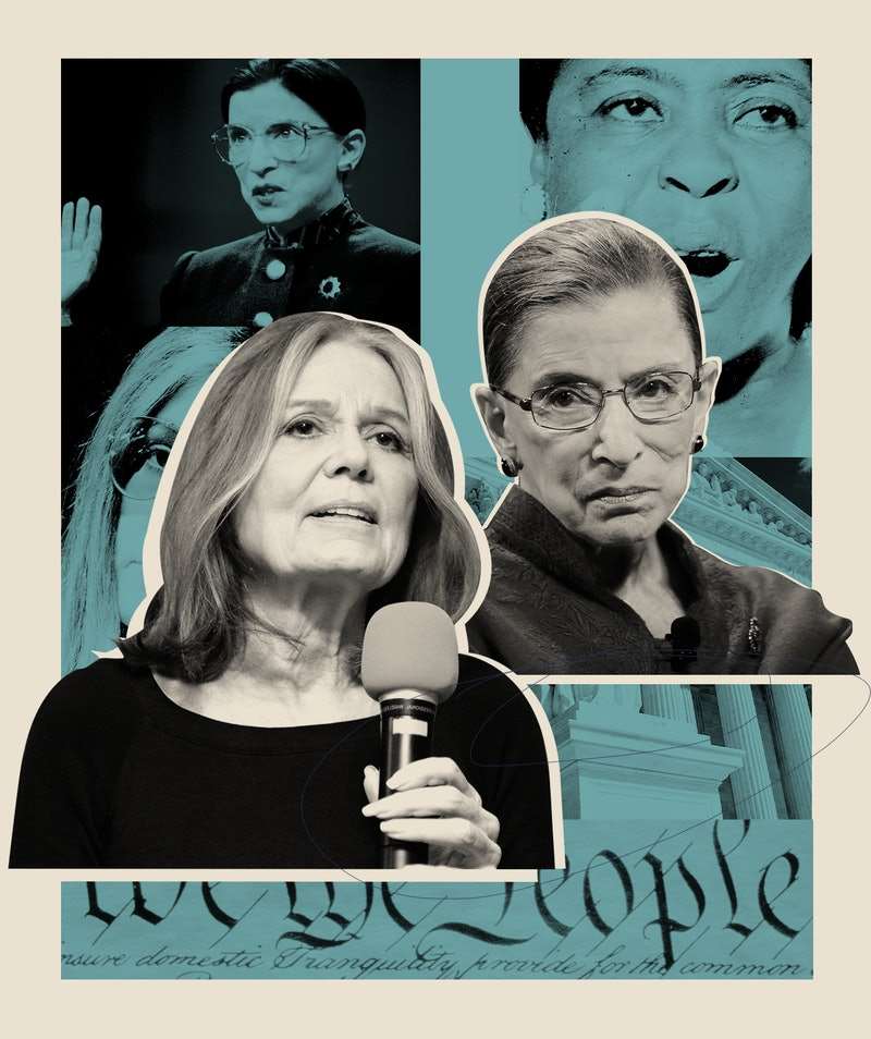 Gloria Steinem and Ruth Bader Ginsburg