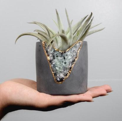 Succulent Geode Planter | Concrete Planter | Air Plant Holder