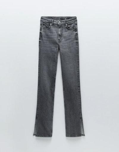 Split Skinny Hi-Rise Jeans