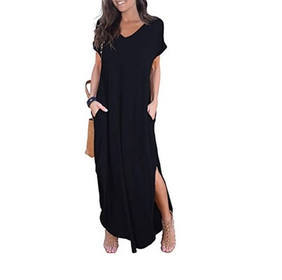 GRECERELLE Split Maxi Dress with Pockets