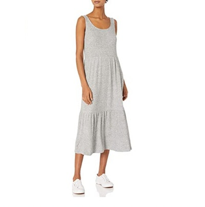 Daily Ritual Rib Tiered Tank Dress