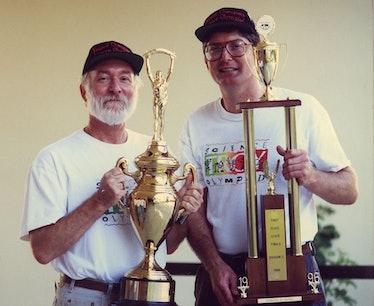 Kurt Wahl and Troy Science Olympiad team co-founder Dan Jundanian.