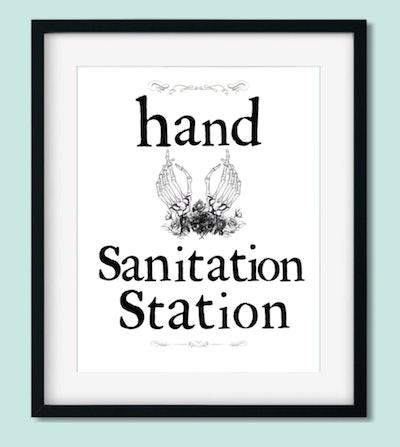 Printable Hand Sanitation Sign
