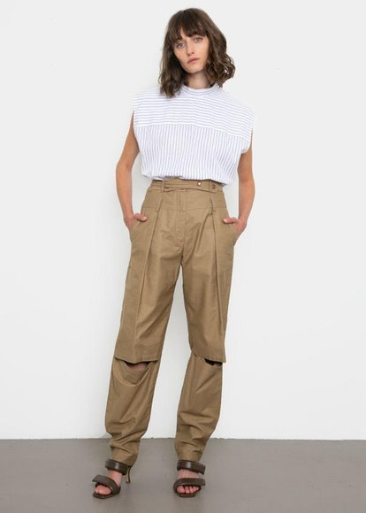 Olyvia High Rise Open Knee Pants
