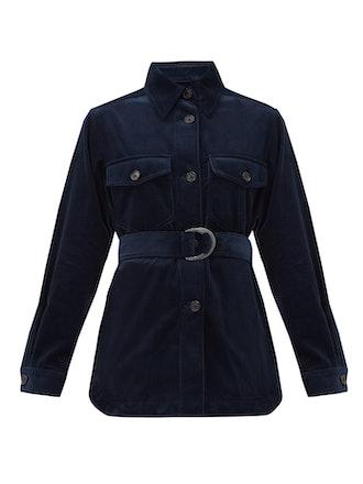 Belted Cotton-Corduroy Shirt Jacket