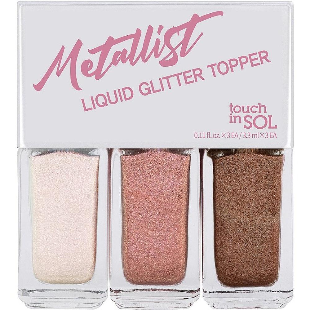 Touch in Sol Metallist Liquid Topper Trio #1 Romantic Rose Look