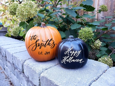 Personalized Calligraphy Pumpkin