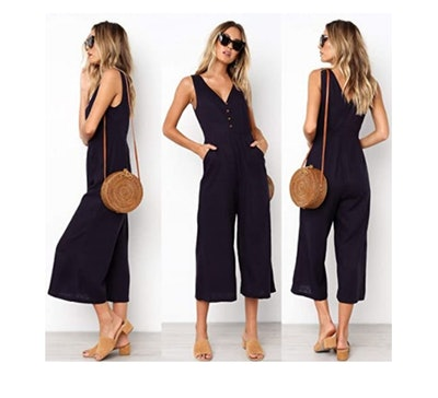 ECOWISH High Waist Jumpsuit