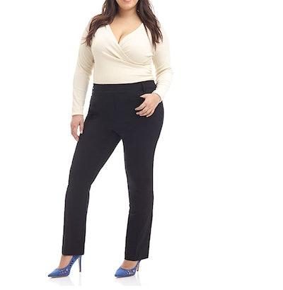 Rekucci Curvy Woman Comfort Plus Straight Pants