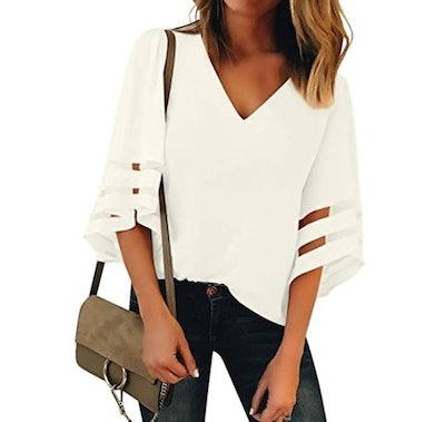 LookbookStore Bell Sleeve Blouse