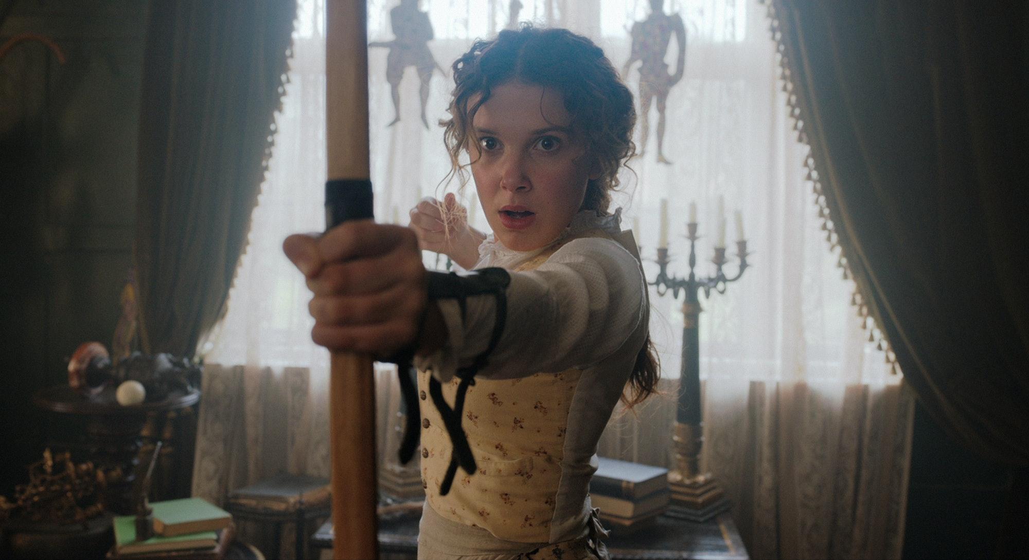 Millie Bobby Brown in Netflix's 'Enola Holmes'