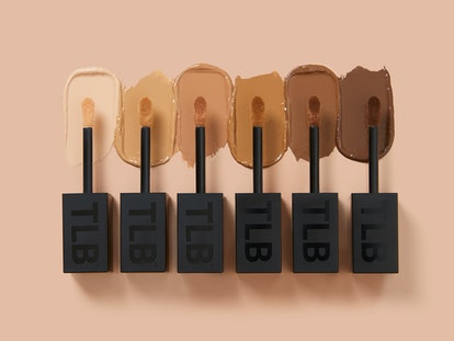 The Lip Bar's new Quick Conceal Caffeine Concealer  swatch pics, all six shades.