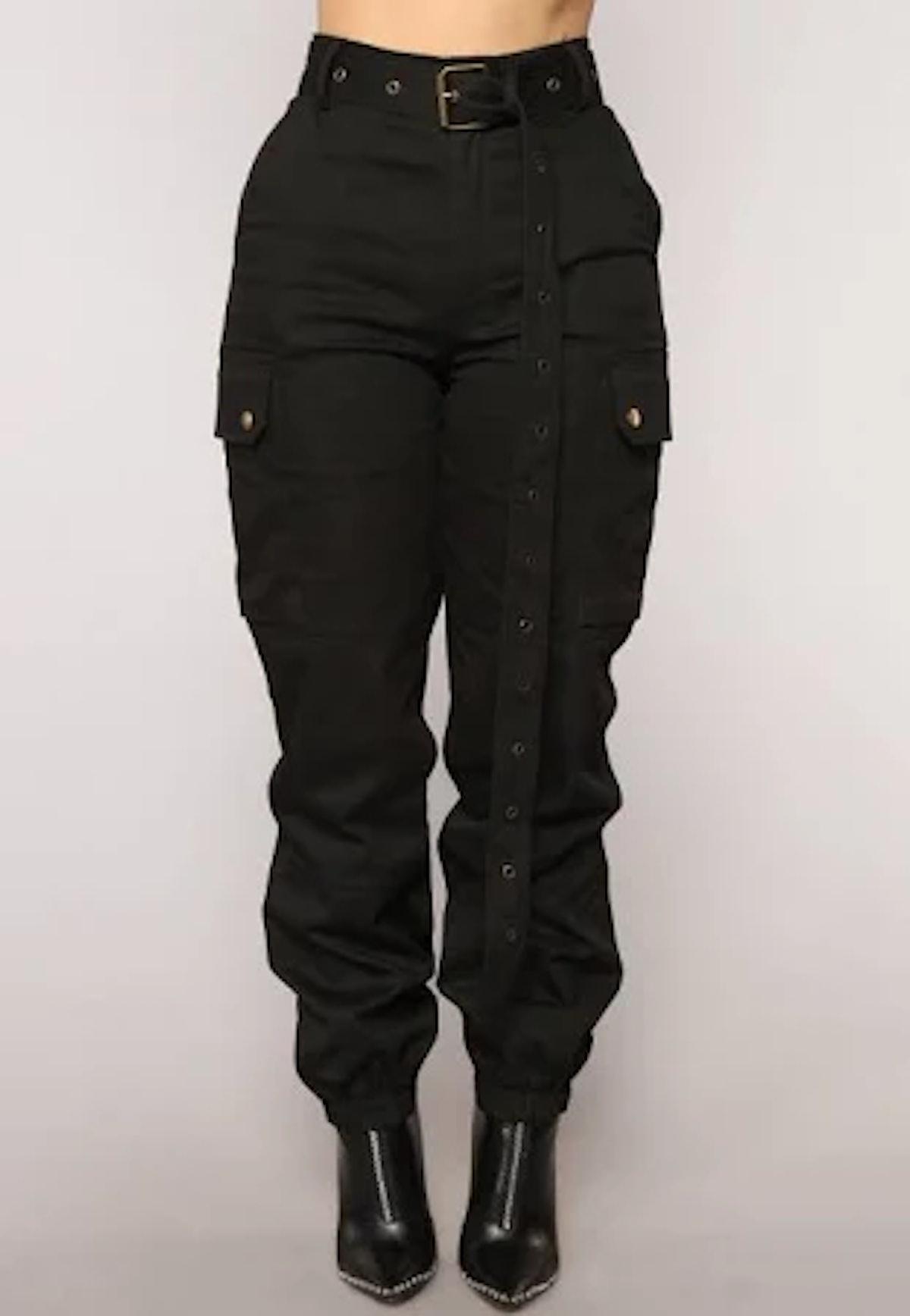 Cargo Chic Pants - Black