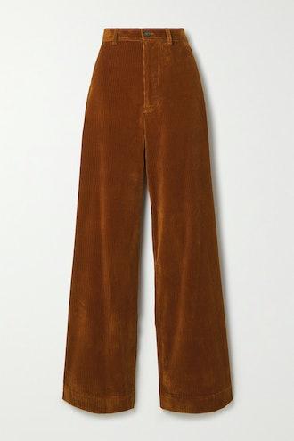 Polo Corduroy Wide-Leg Pants
