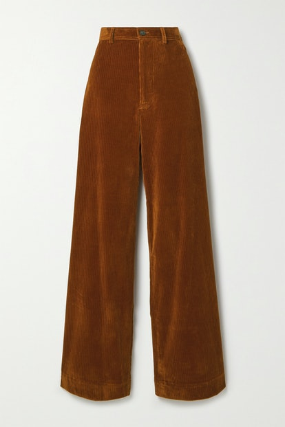 Polo Corduroy Wide-Leg Pants