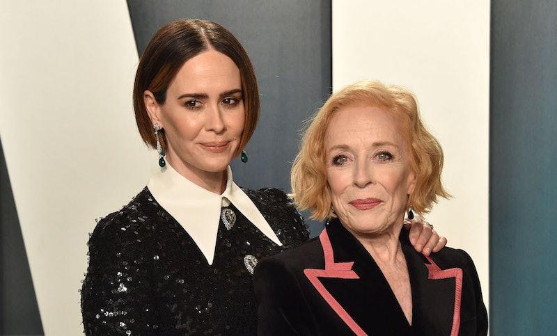 Sarah Paulson and Holland Taylor at an Oscars afterparty