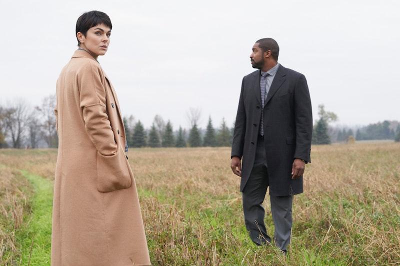 "Serinda Swan as Dr. Jenny Cooper and Roger Cross as Detective Donovan ""Mac"" McAvoy in Coroner on The CW via ViacomCBS Press Site"