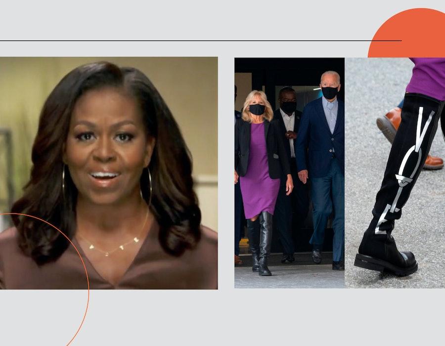 Michelle Obama Vote Necklace, Jill Biden Vote Boots