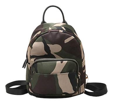 Clara Camouflage Mini Backpack