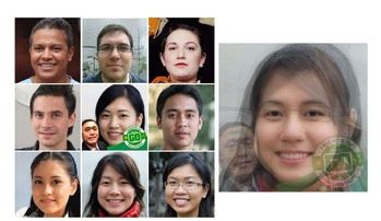 Nine profile pictures of different men and women from different countries. On the left side, there is one account photo of a woman smiling.