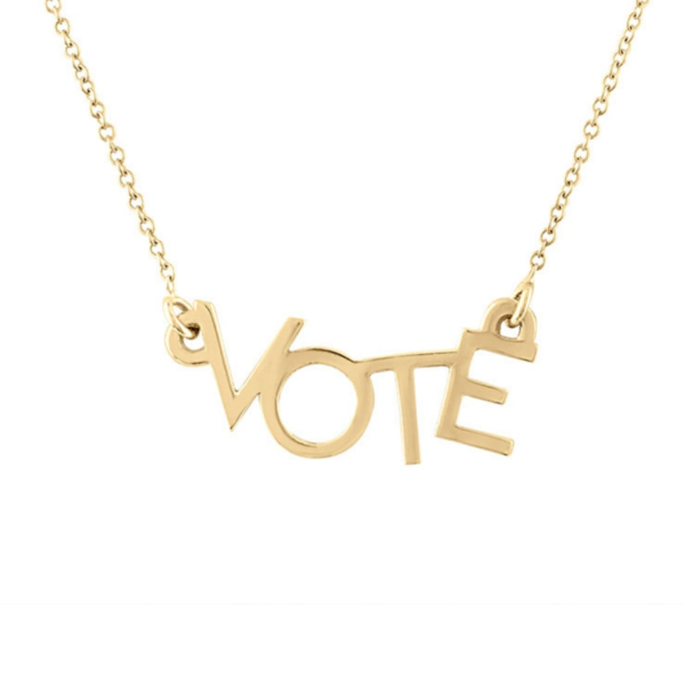 VOTE Necklace in Solid 14k Gold
