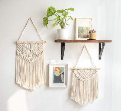 Mkono Macrame Wall Hanging Art (2-Pack)